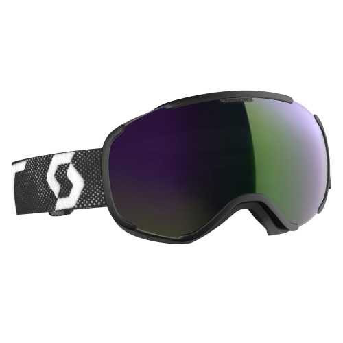 горнолыжная маска SCOTT FAZE II black/white enhancer green chrome
