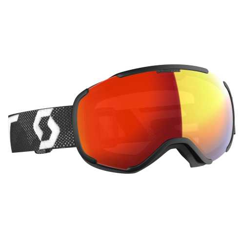 горнолыжная маска SCOTT FAZE II LS black/white light sensitive red chrome