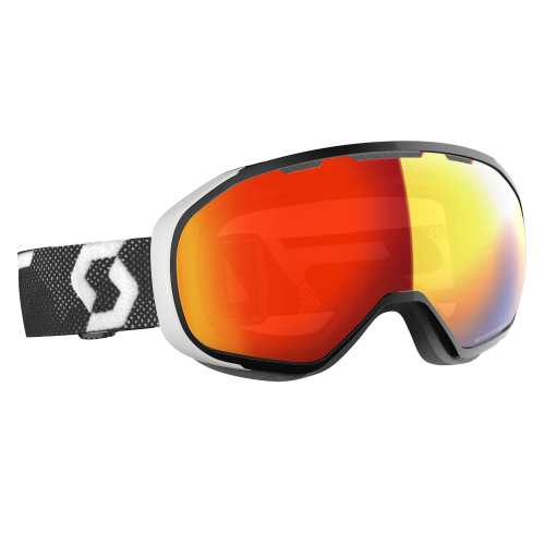 горнолыжная маска SCOTT FIX LS black/white light sensitive red chrome