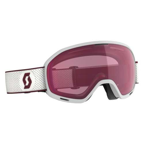 горнолыжная маска SCOTT UNLIMITED II OTG white/merlot red enhancer
