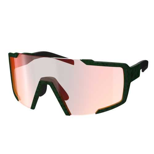 очки SCOTT SHIELD iris green red chrome enhancer