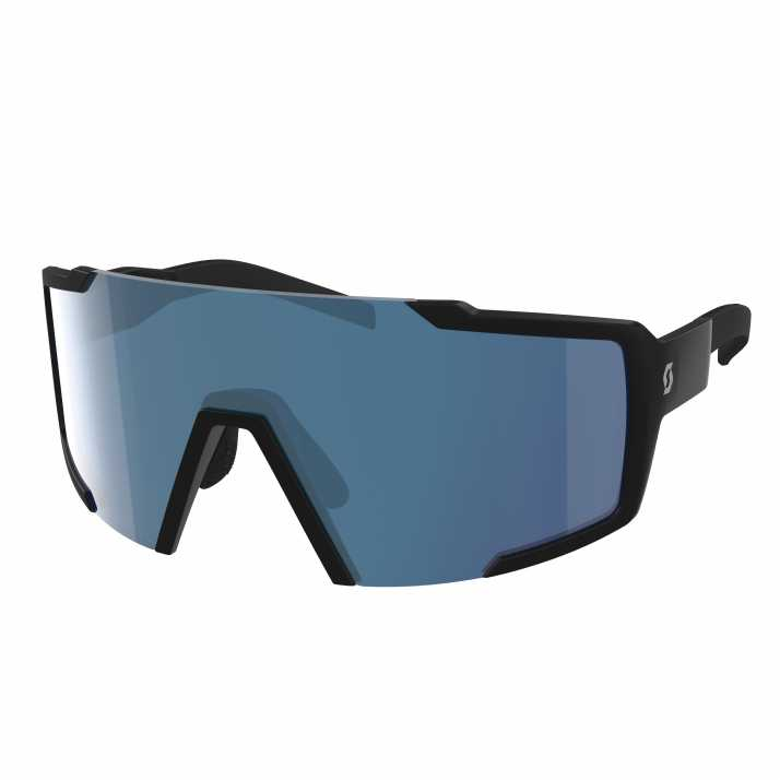 окуляри SCOTT SHIELD black matt blue chrome enhancer
