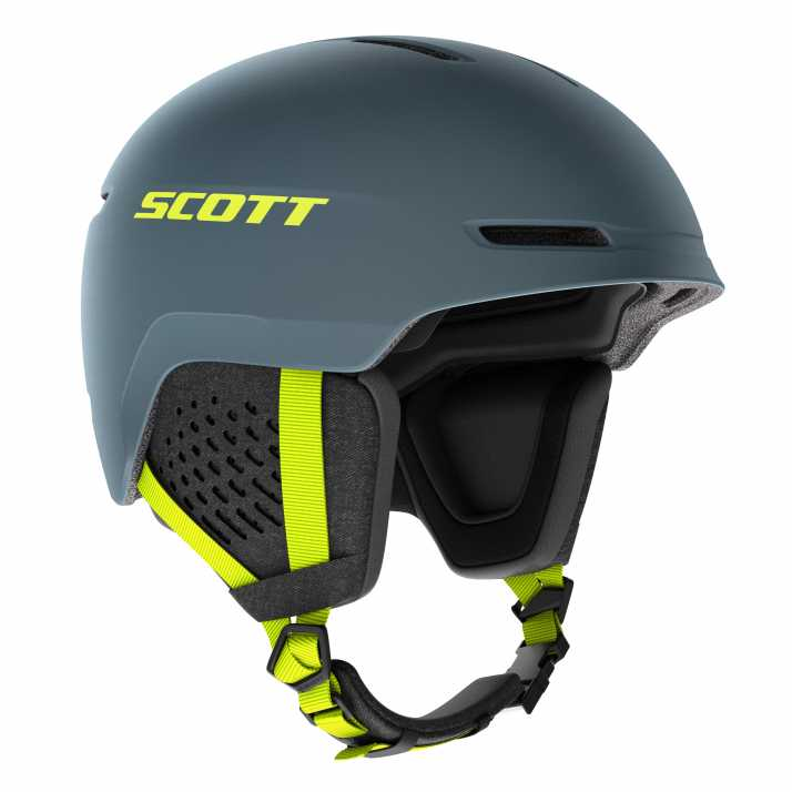 горнолыжный шлем  SCOTT TRACK  storm grey/ultralime yellow