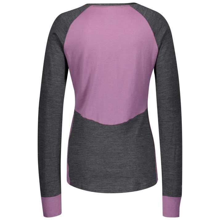 термомайка SCOTT W DEFINED LIGHT dark grey melange/cassis pink