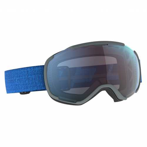 маска горнолыжная SCOTT FAZE II dark blue/skydive blue / enhancer blue chrome