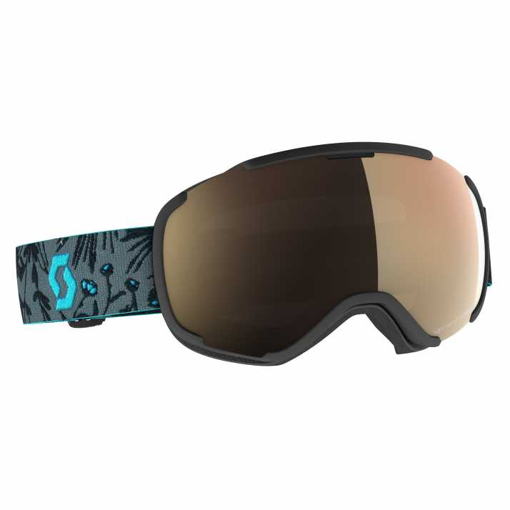 маска гірськолижна SCOTT FAZE II black/cyan blue light sensitive bronze chrome