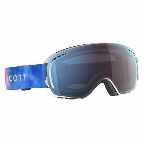 маска гірськолижна SCOTT LCG COMPACT LS cyan blue/pink enhancer blue chrome