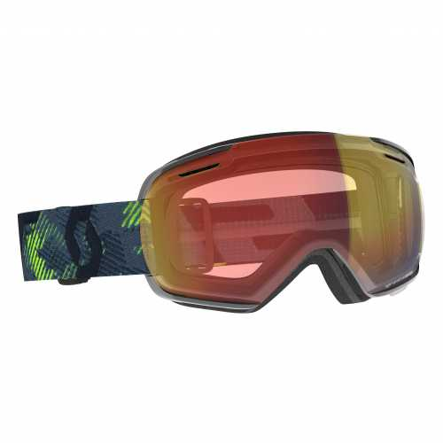 маска гірськолижна SCOTT LINX LS ultralime green/storm grey light sensitive red chrome