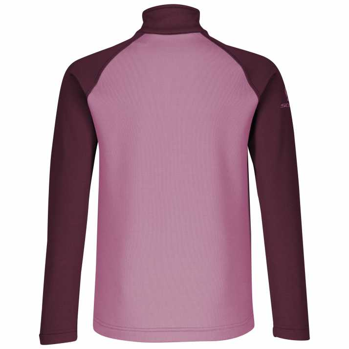 термо кофта підліткова SCOTT JR 1/2 ZIP DEFINED LIGHT red fudge/cassis pink